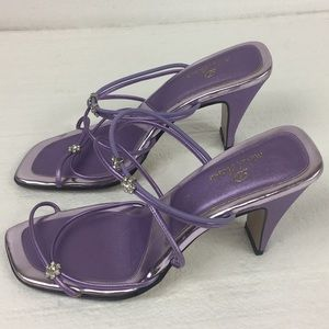 Michael Antonio Women Purple Heels Size 7.5